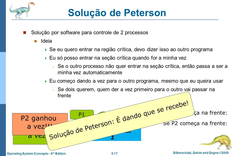 Solução de Peterson: É dando que se recebe!
