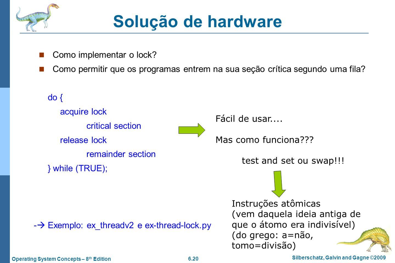Solução de hardware Como implementar o lock