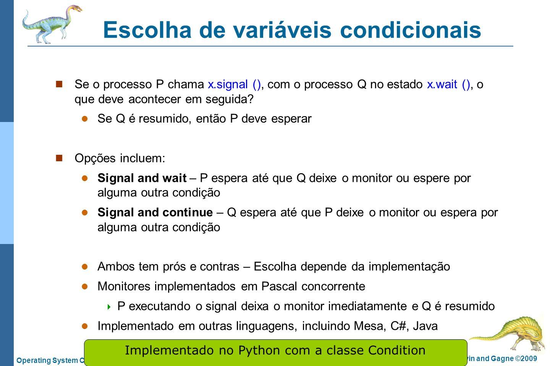 Escolha de variáveis condicionais