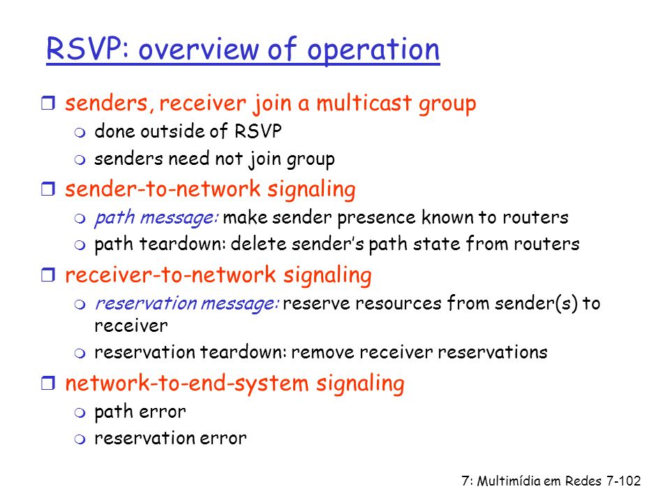 RSVP: overview of operation