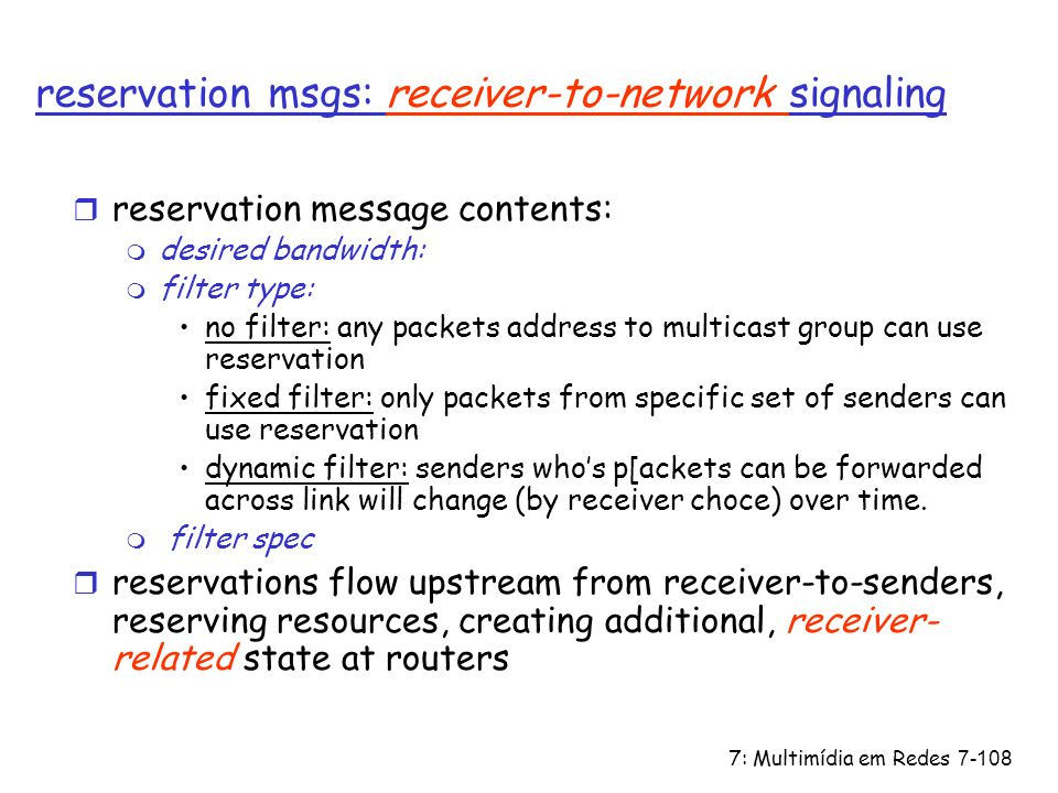 reservation msgs: receiver-to-network signaling