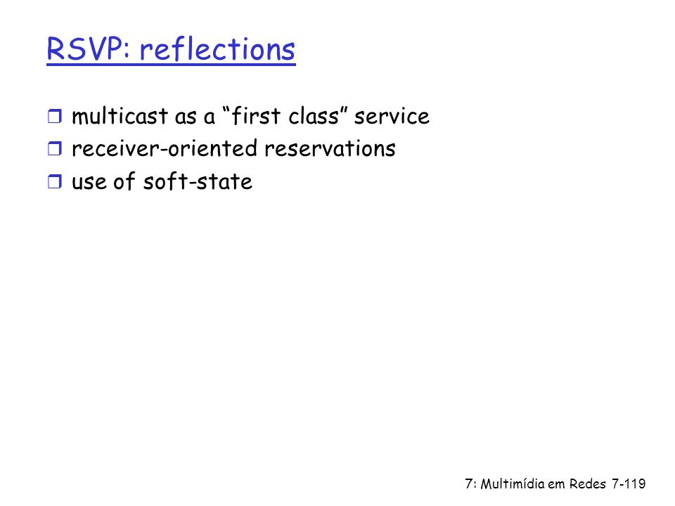 RSVP: reflections multicast as a first class service
