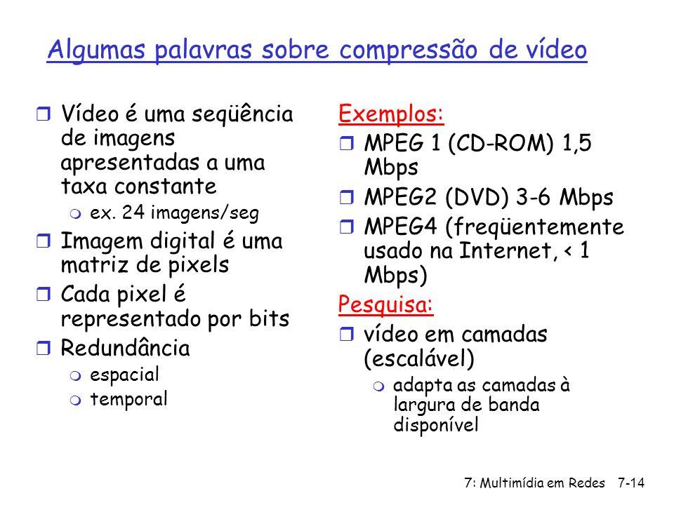 Algumas palavras sobre compressão de vídeo