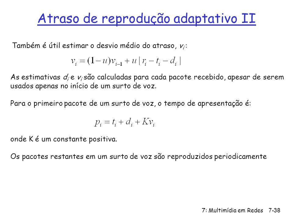 Atraso de reprodução adaptativo II
