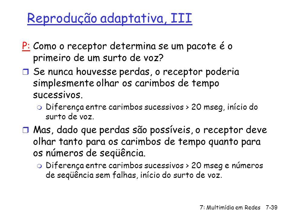 Reprodução adaptativa, III