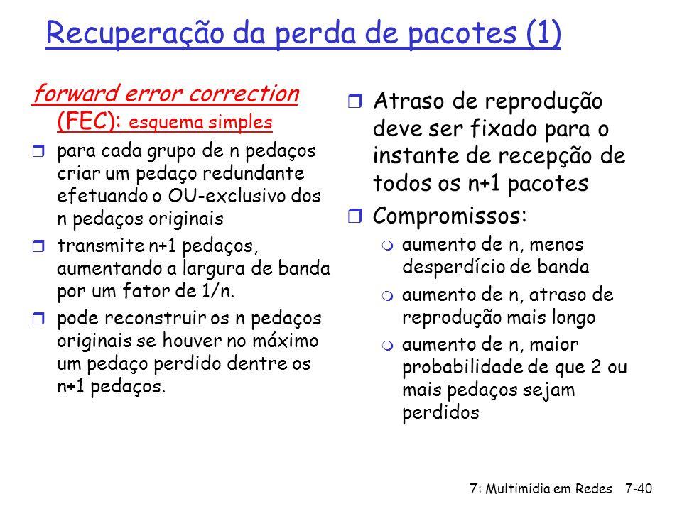 Recuperação da perda de pacotes (1)