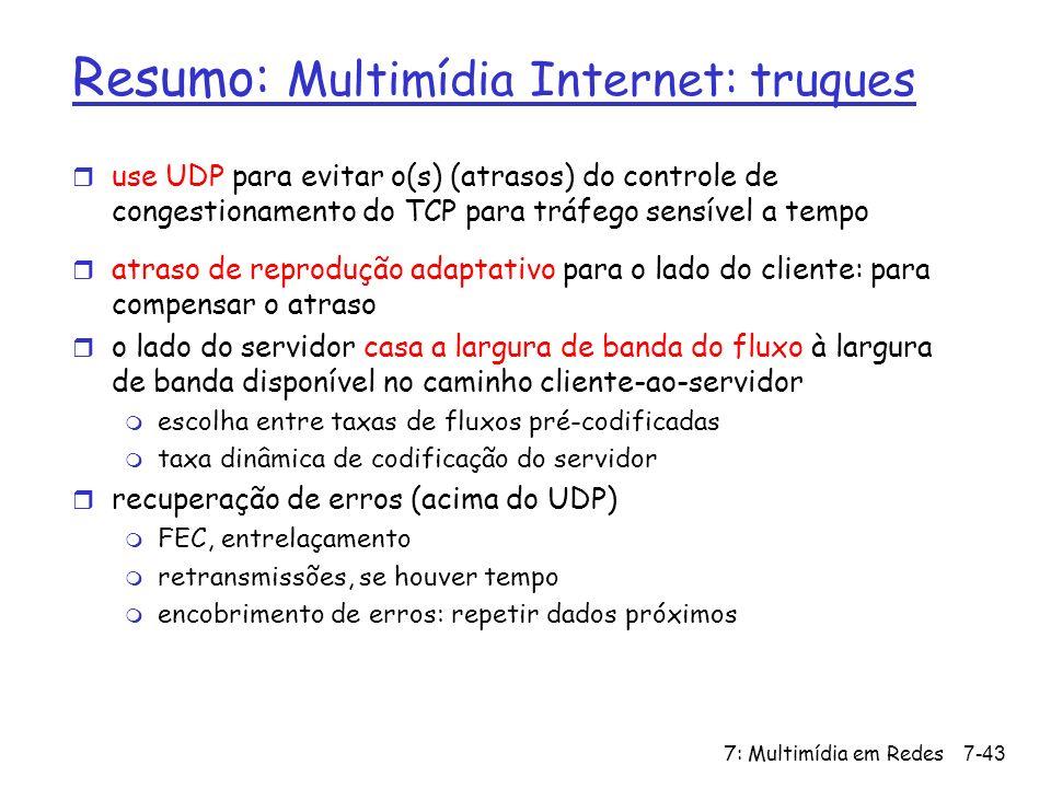 Resumo: Multimídia Internet: truques