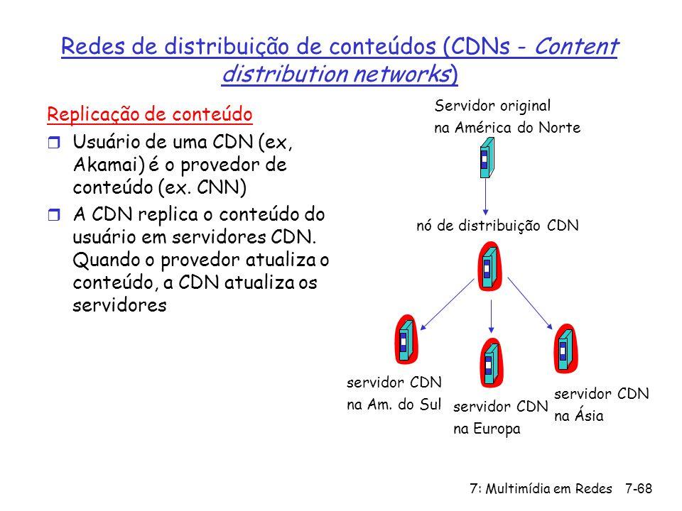 Redes de distribuição de conteúdos (CDNs - Content distribution networks)