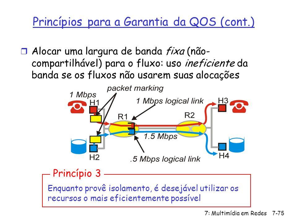 Princípios para a Garantia da QOS (cont.)