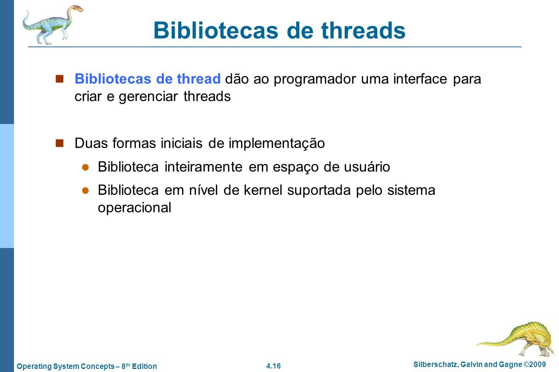 Bibliotecas de threads