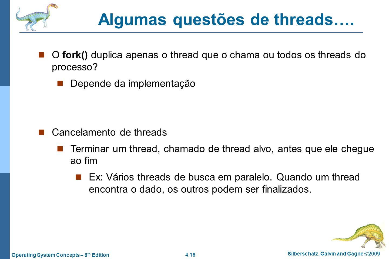 Algumas questões de threads….