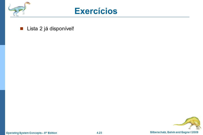 Exercícios Lista 2 já disponível!
