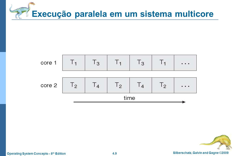 Execução paralela em um sistema multicore