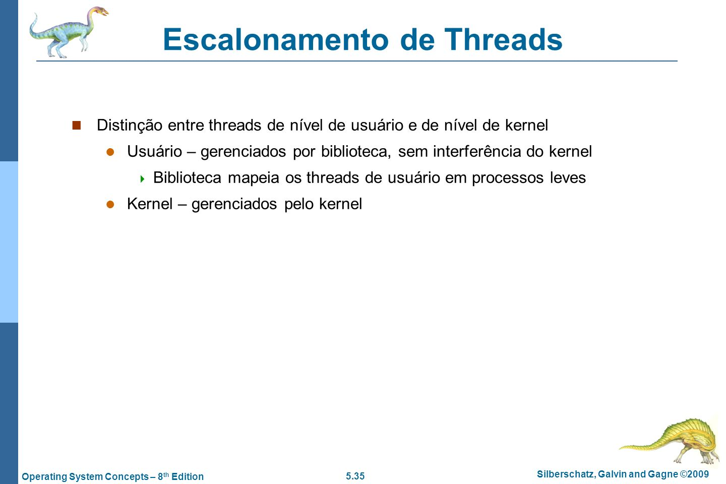 Escalonamento de Threads