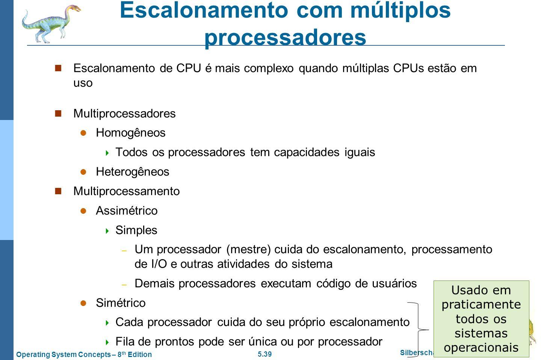 Escalonamento com múltiplos processadores