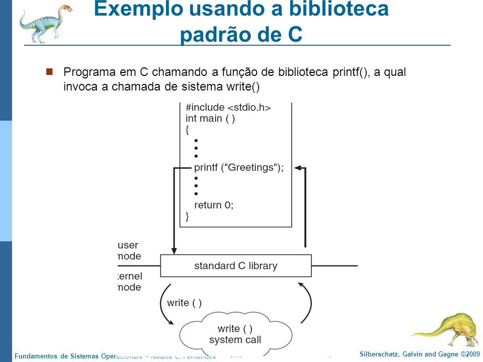 Exemplo usando a biblioteca padrão de C