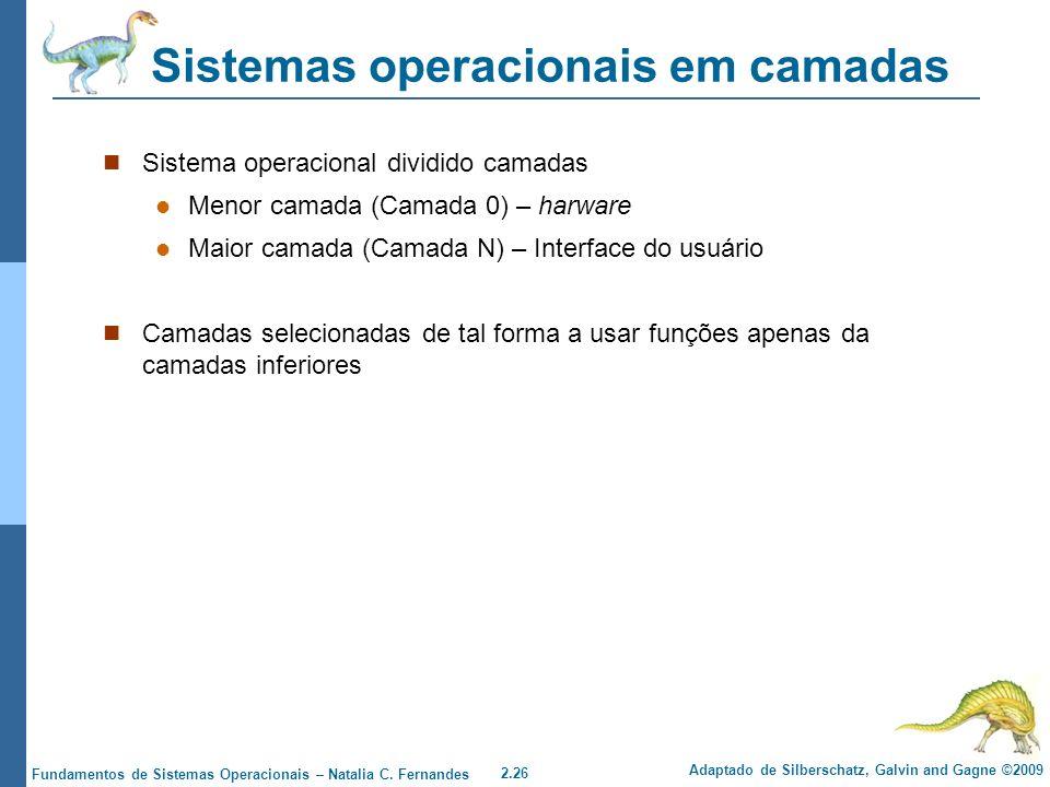 Sistemas operacionais em camadas