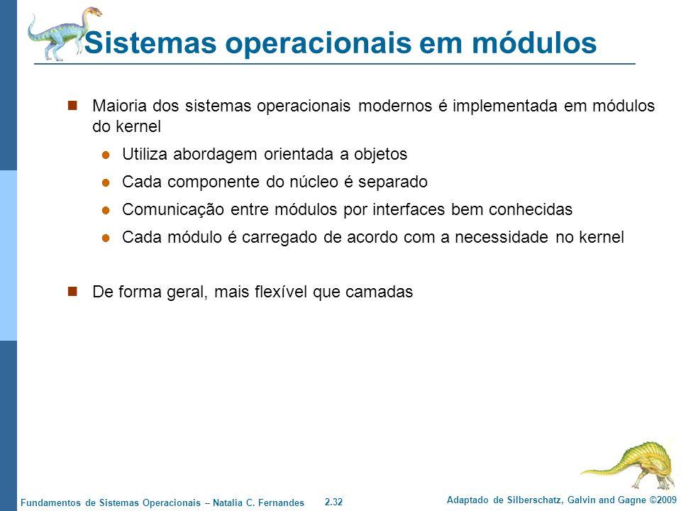 Sistemas operacionais em módulos