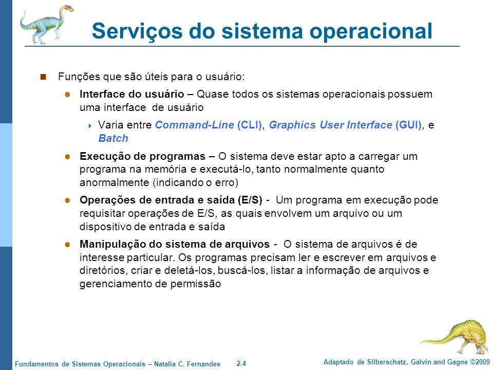 Serviços do sistema operacional