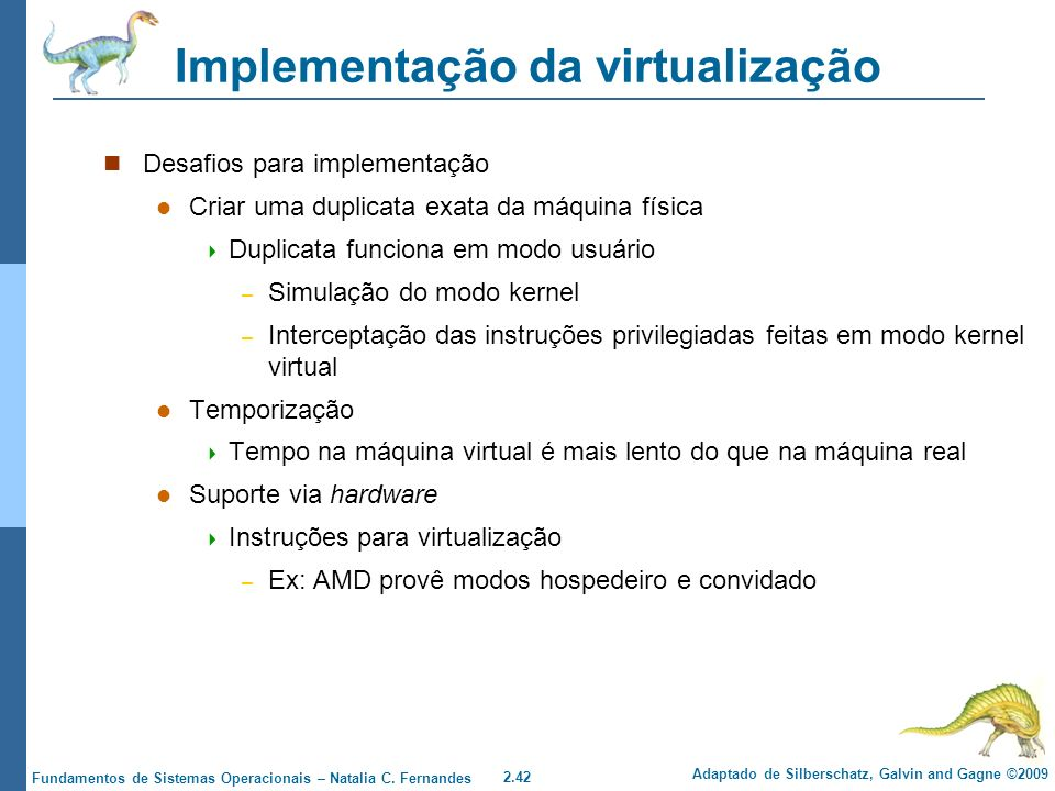 Implementação da virtualização