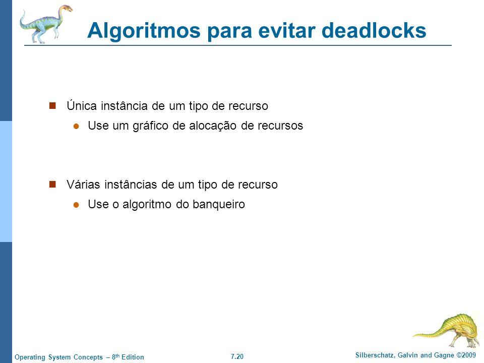 Algoritmos para evitar deadlocks