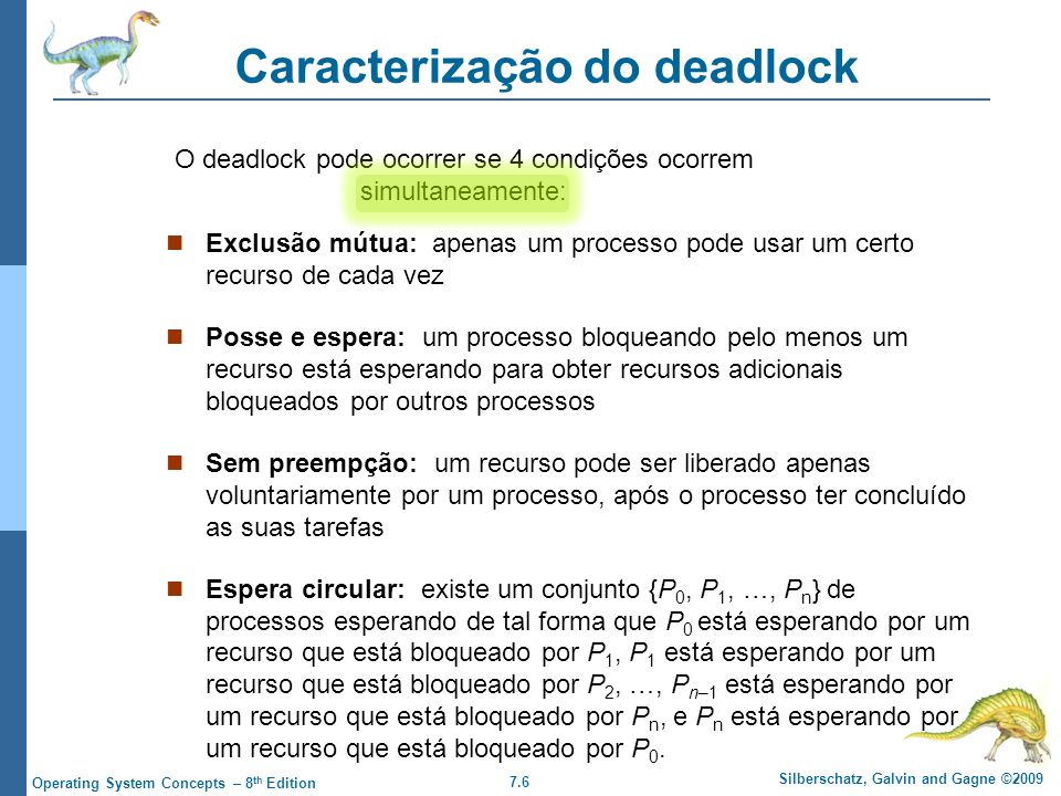 Caracterização do deadlock