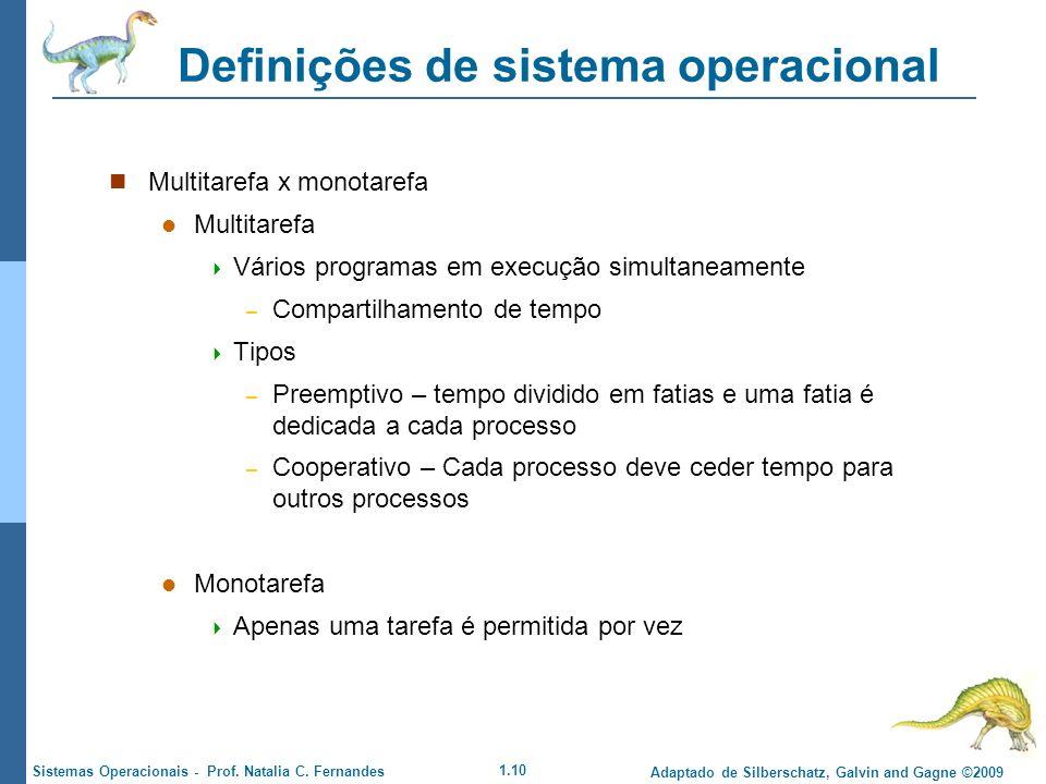 Definições de sistema operacional