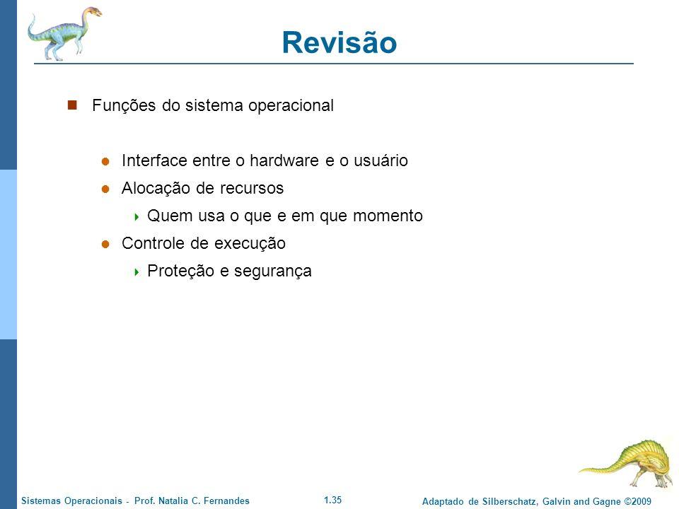 Revisão Funções do sistema operacional