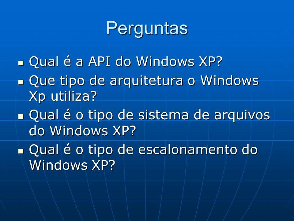 Perguntas Qual é a API do Windows XP