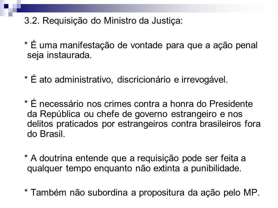 3.2. Requisição do Ministro da Justiça: