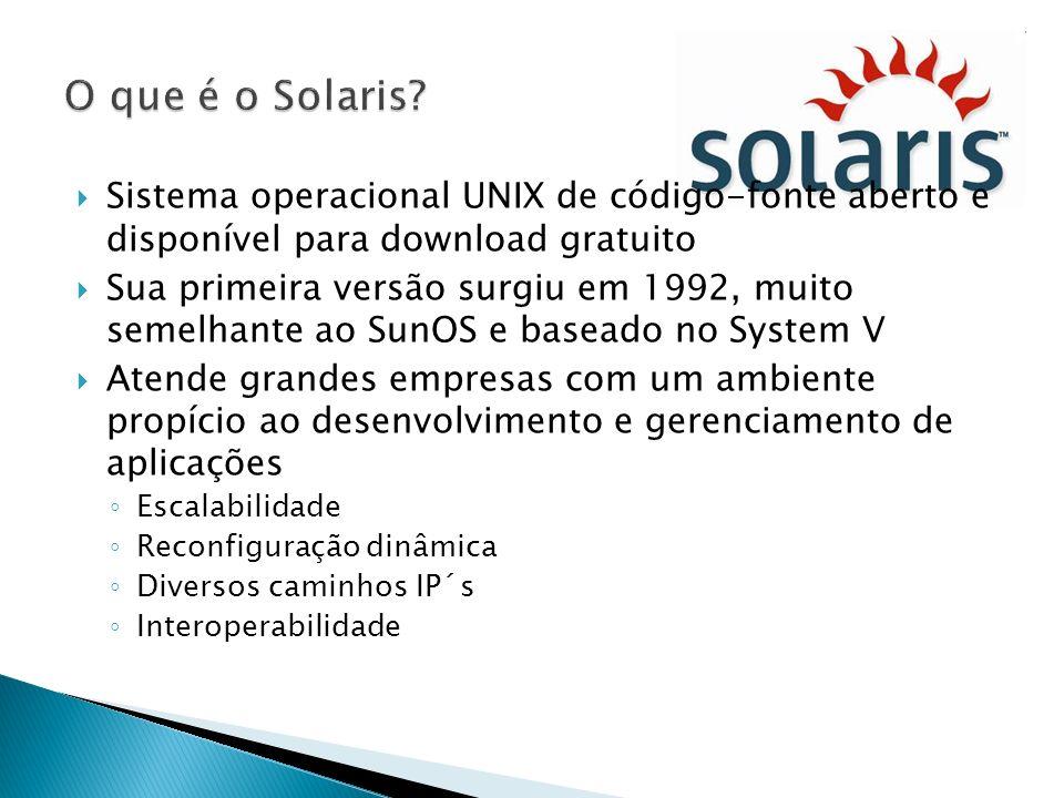 O que é o Solaris Sistema operacional UNIX de código-fonte aberto e disponível para download gratuito.