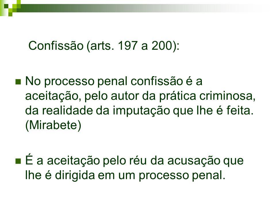Confissão (arts. 197 a 200):