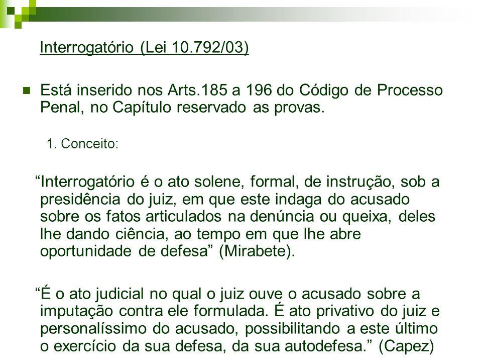 Interrogatório (Lei 10.792/03)