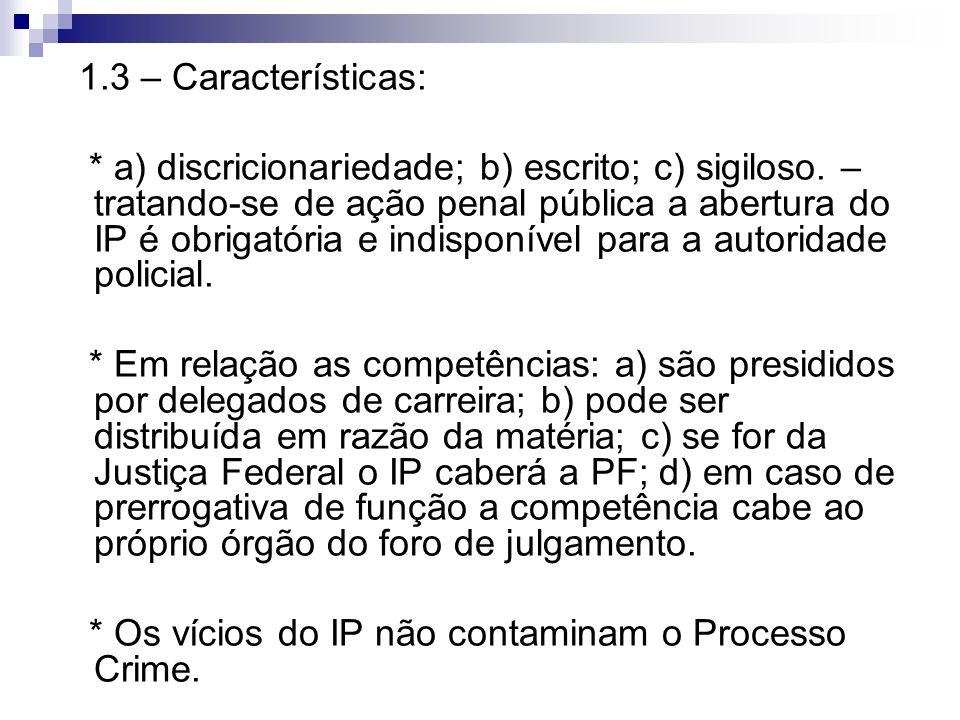 1.3 – Características:
