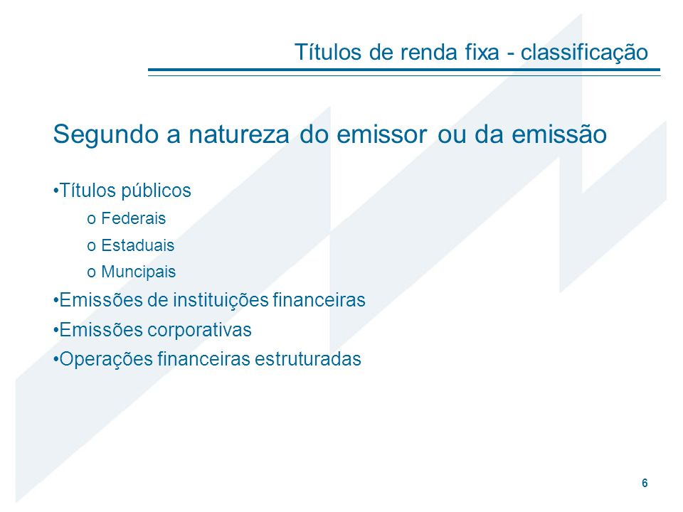 Segundo a natureza do emissor ou da emissão