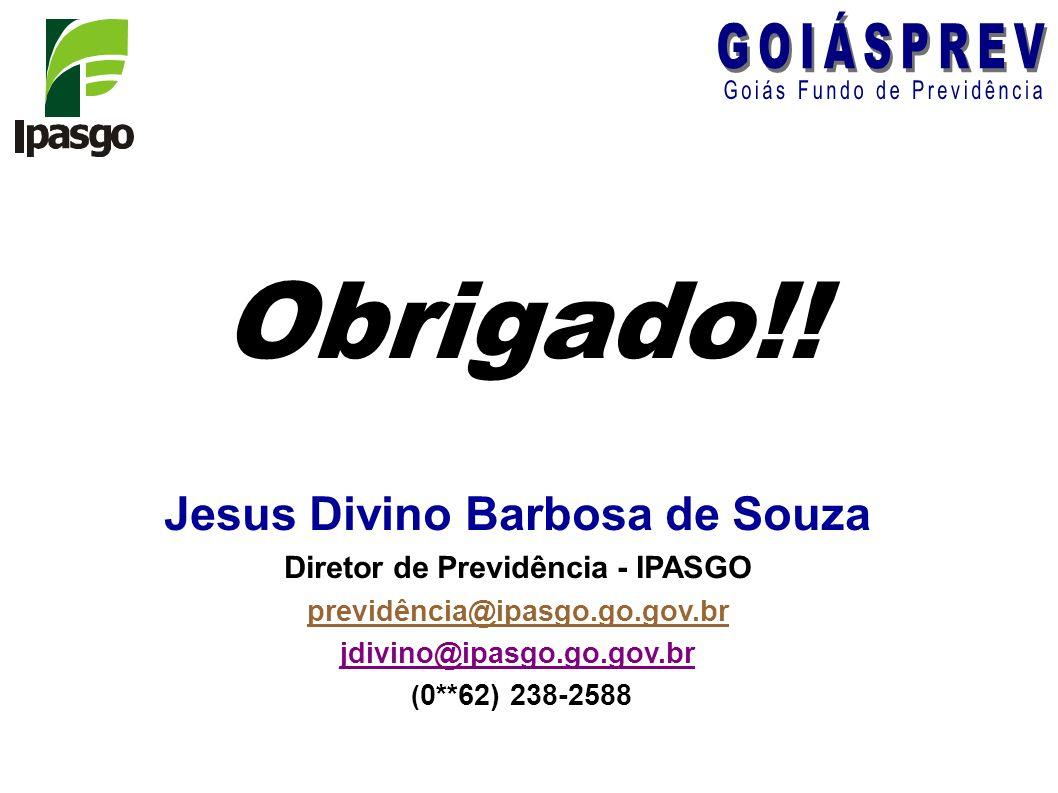 Jesus Divino Barbosa de Souza Diretor de Previdência - IPASGO