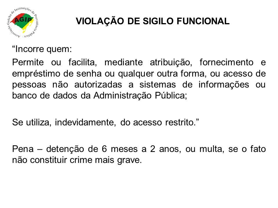 VIOLAÇÃO DE SIGILO FUNCIONAL