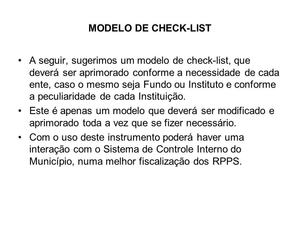 MODELO DE CHECK-LIST
