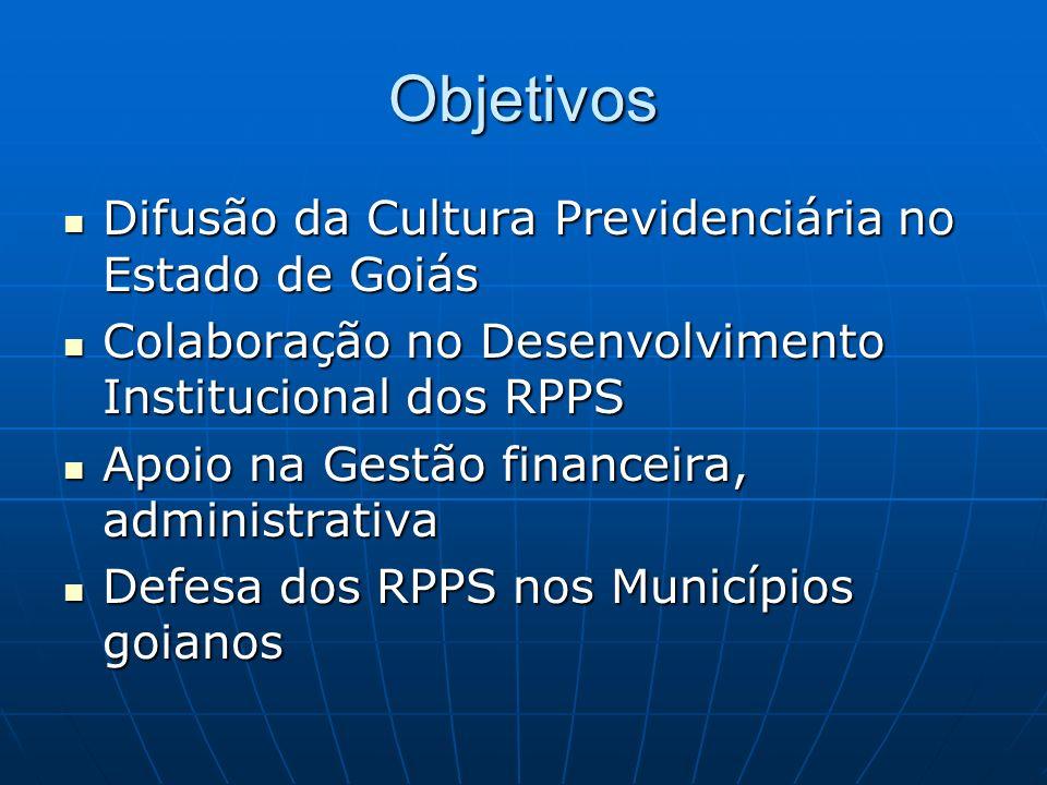 Objetivos Difusão da Cultura Previdenciária no Estado de Goiás