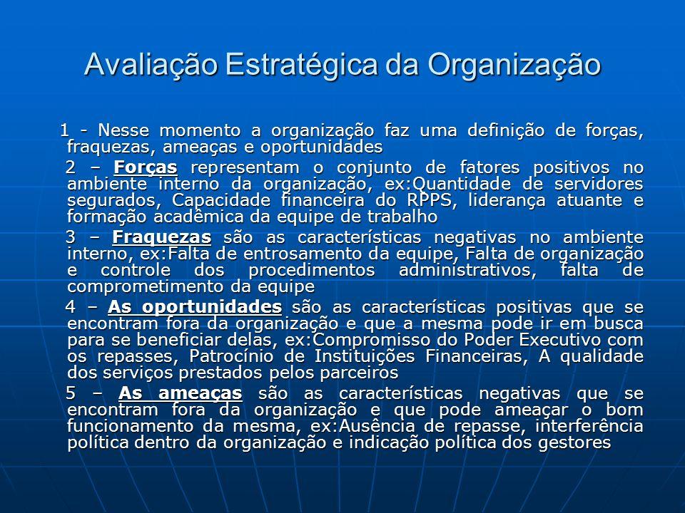 Avaliação Estratégica da Organização