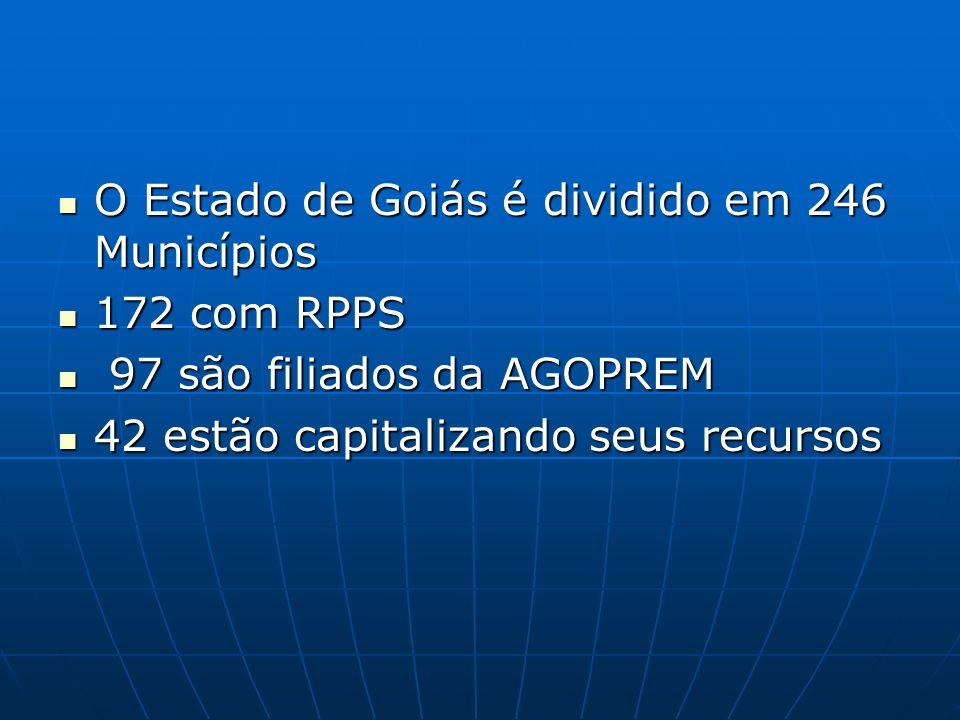 O Estado de Goiás é dividido em 246 Municípios