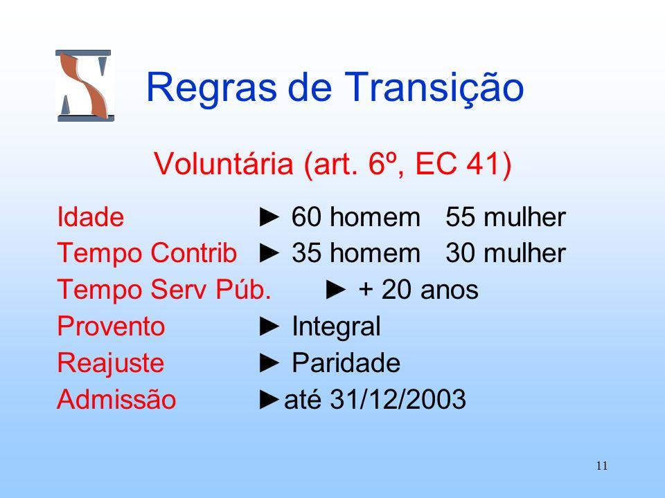 Regras de Transição Voluntária (art. 6º, EC 41)