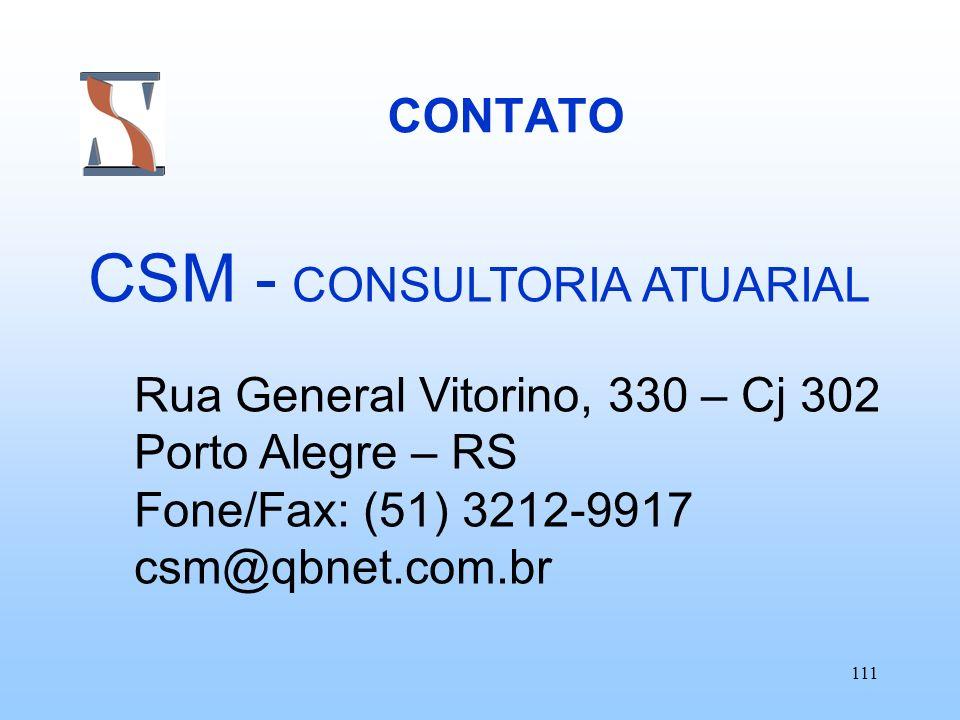 CSM - CONSULTORIA ATUARIAL