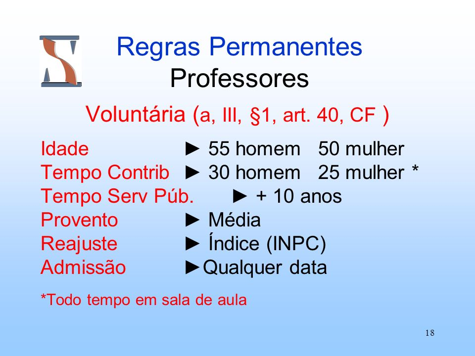 Regras Permanentes Professores