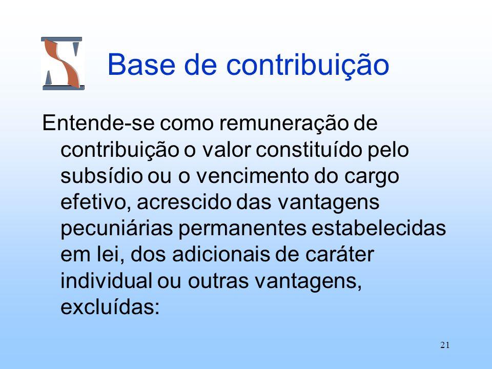Base de contribuição