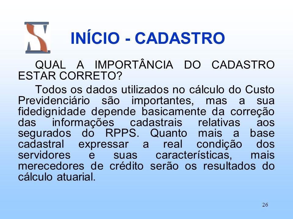 INÍCIO - CADASTRO QUAL A IMPORTÂNCIA DO CADASTRO ESTAR CORRETO