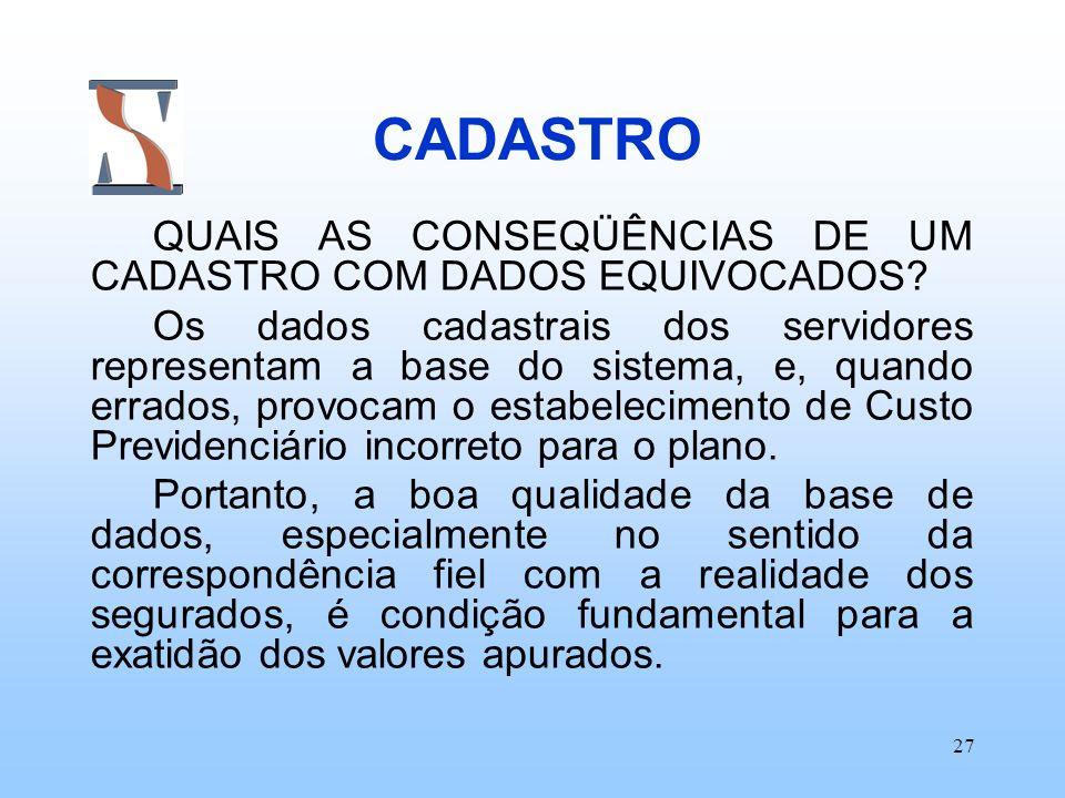 CADASTRO QUAIS AS CONSEQÜÊNCIAS DE UM CADASTRO COM DADOS EQUIVOCADOS