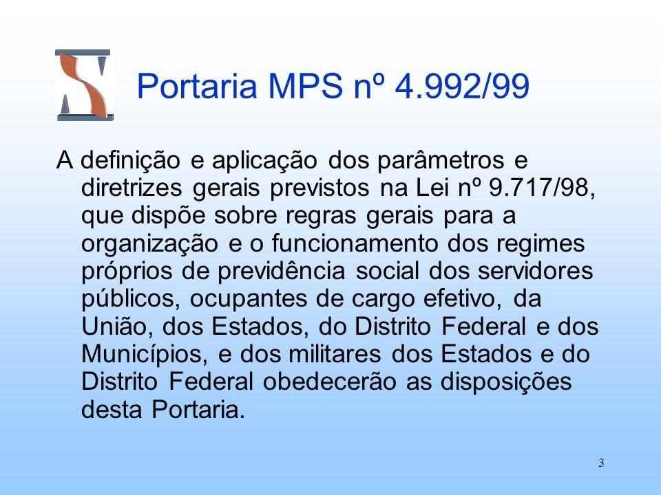 Portaria MPS nº 4.992/99
