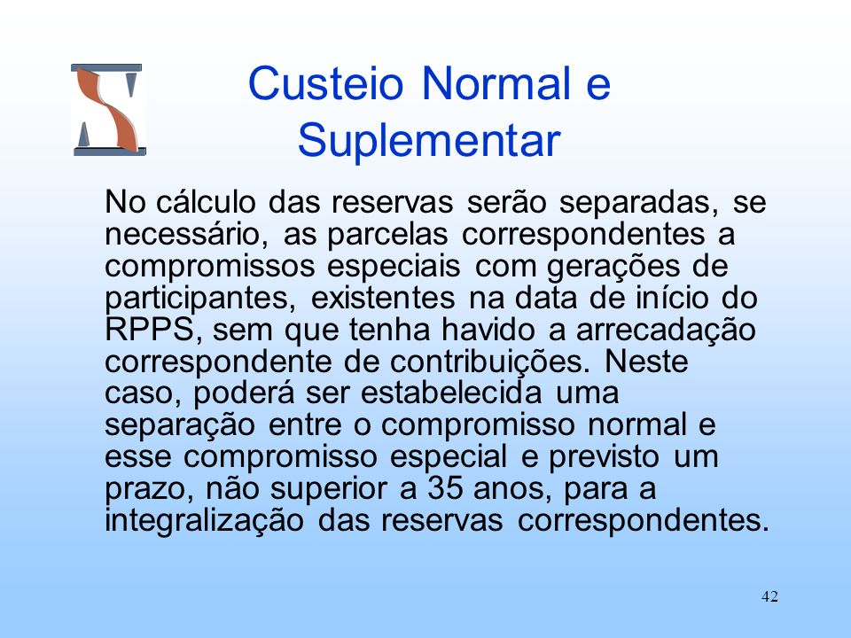 Custeio Normal e Suplementar