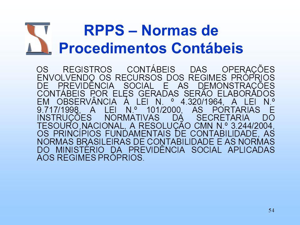 RPPS – Normas de Procedimentos Contábeis